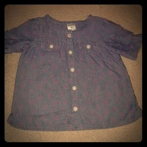 Carter's Button down Chambray Floral Print 9mths